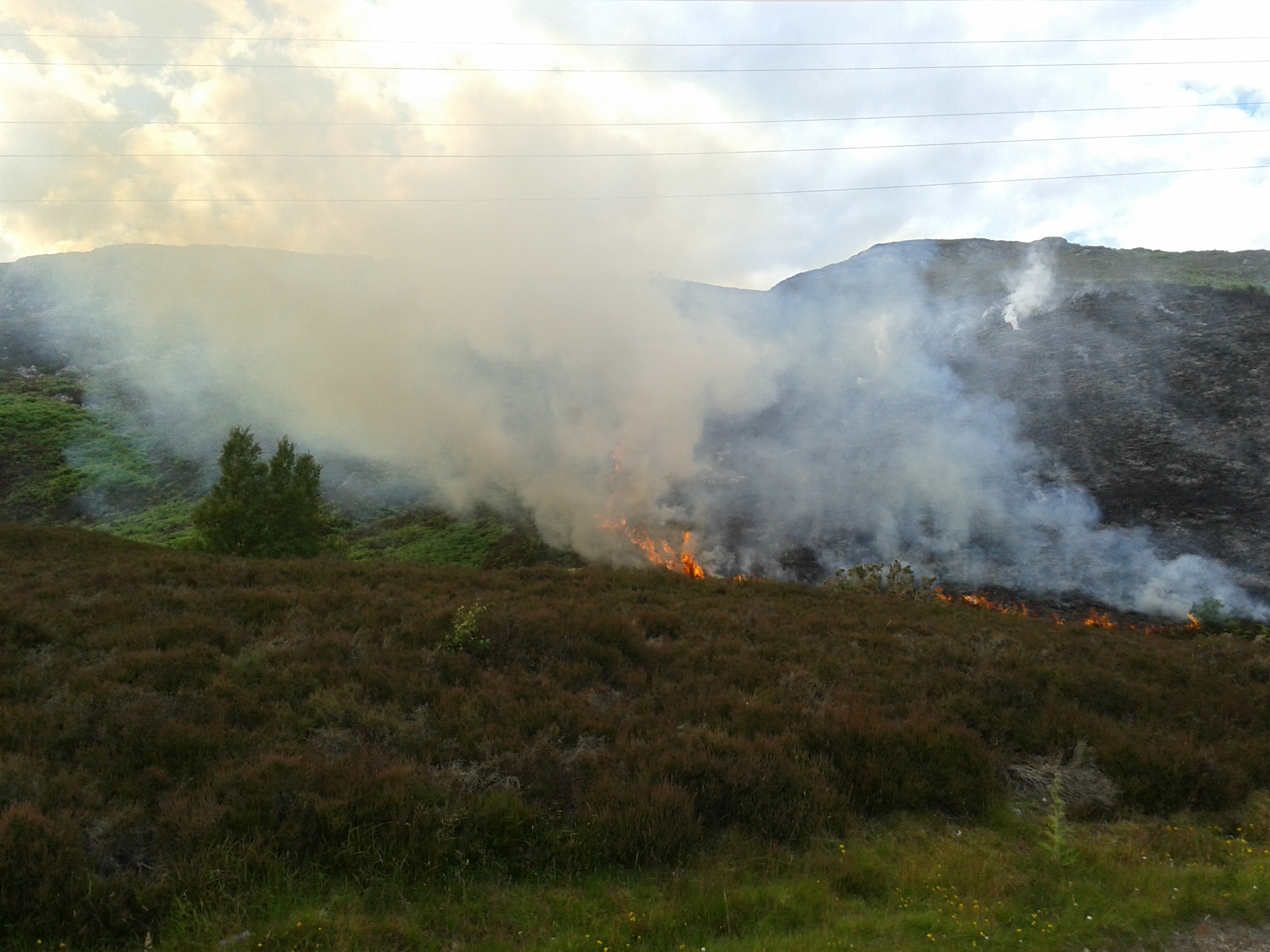 Crews battled wildfire between Inverness and Fort Augustus