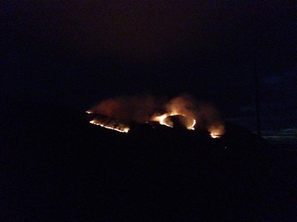 Crews remain at scene of wildfire, Torness