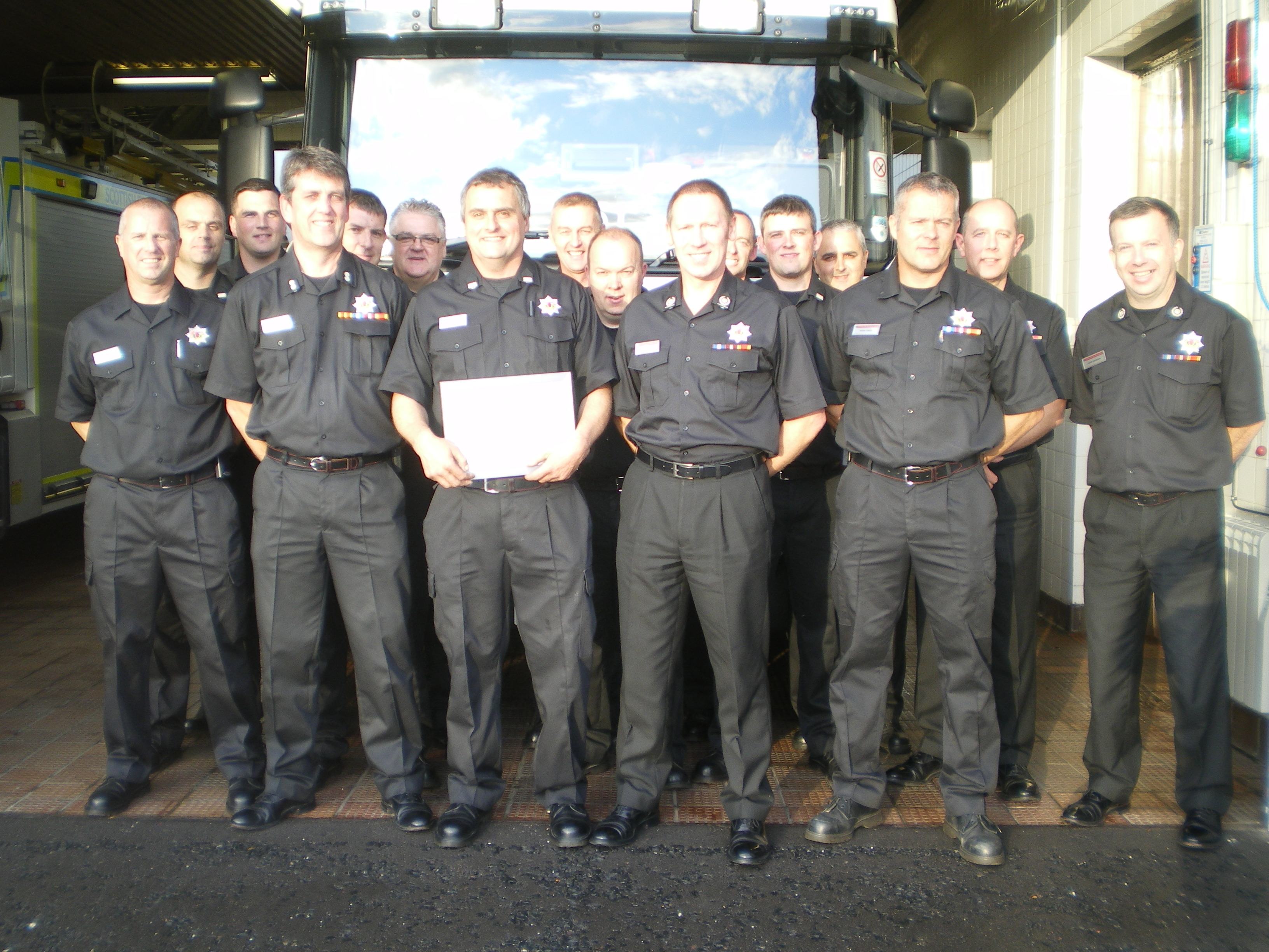 30 years service from Stonehaven firefighter