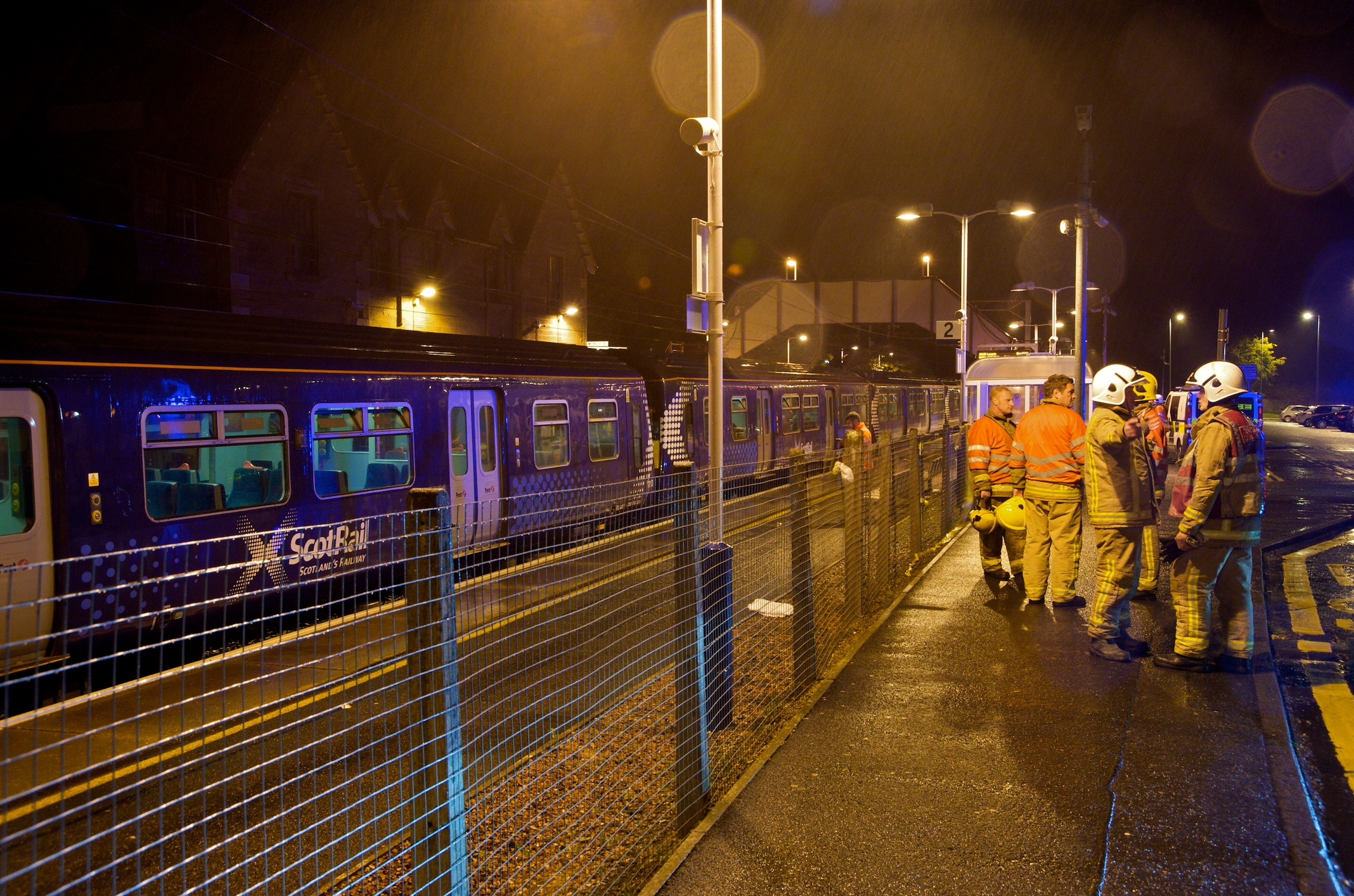 Crews assist man trapped under a train in South Lanarkshire