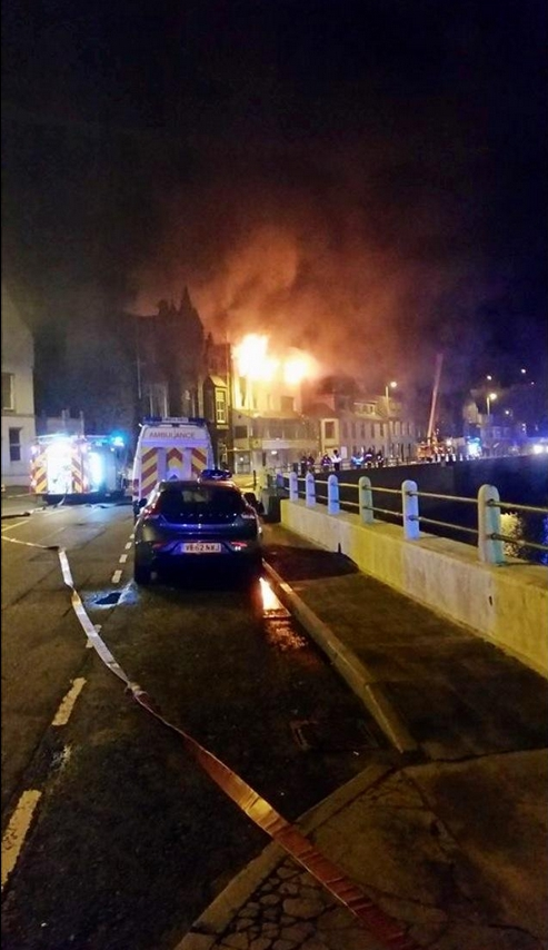 Firefighters prevent fire spread following Macduff hotel fire (1)