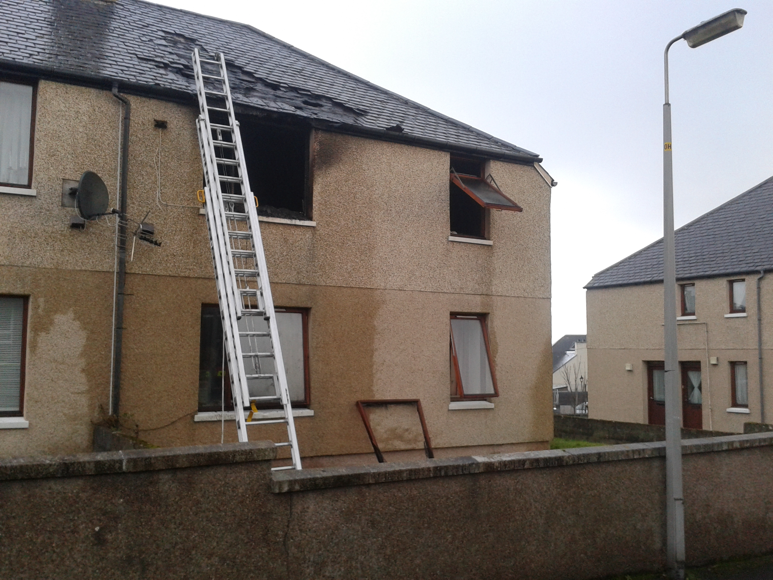 House fire in Thurso