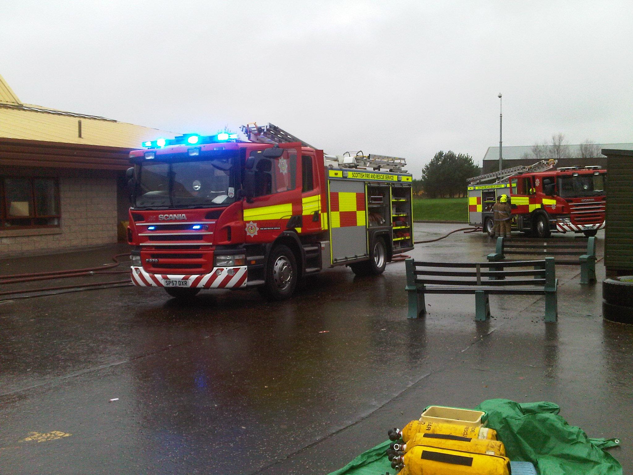 Crews still at scene following Brechin primary school fire