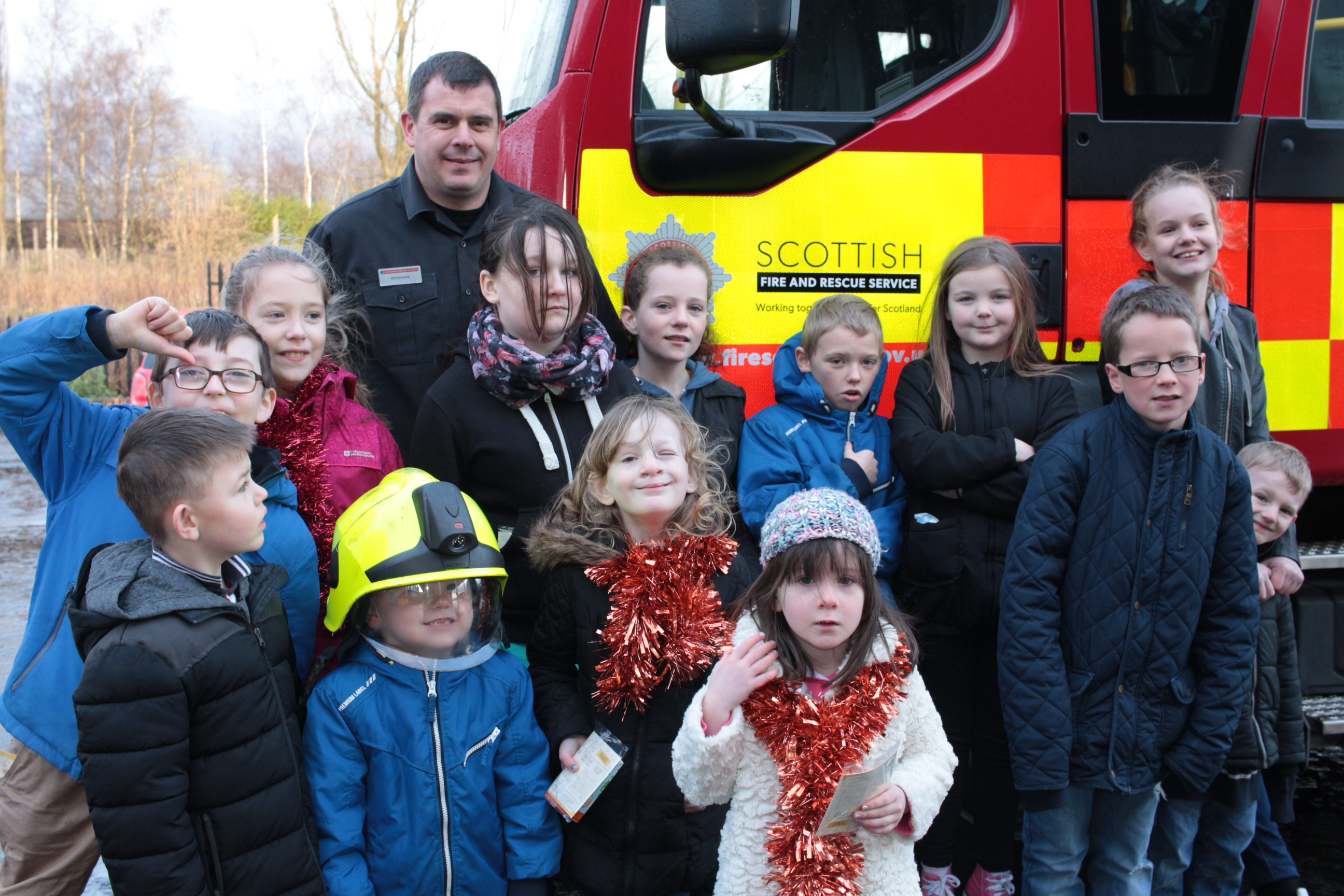 Local groups from Alloa help promote fire safety in the town's Hawkhill area