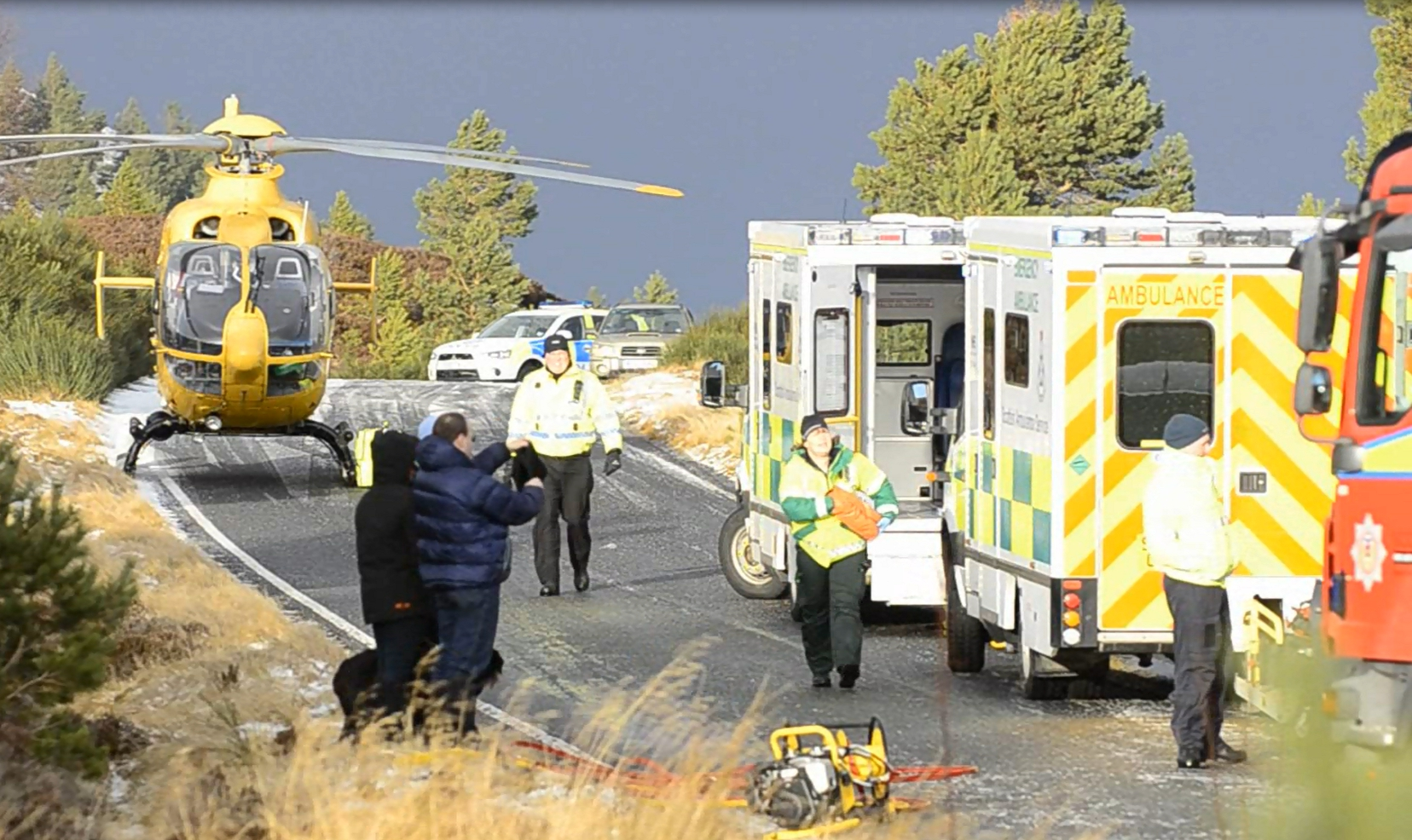 Crews free woman from vehicle after B9007 crash near Carrbridge