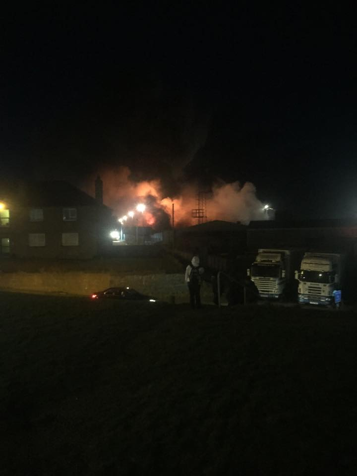 Fish factory fire in Peterhead