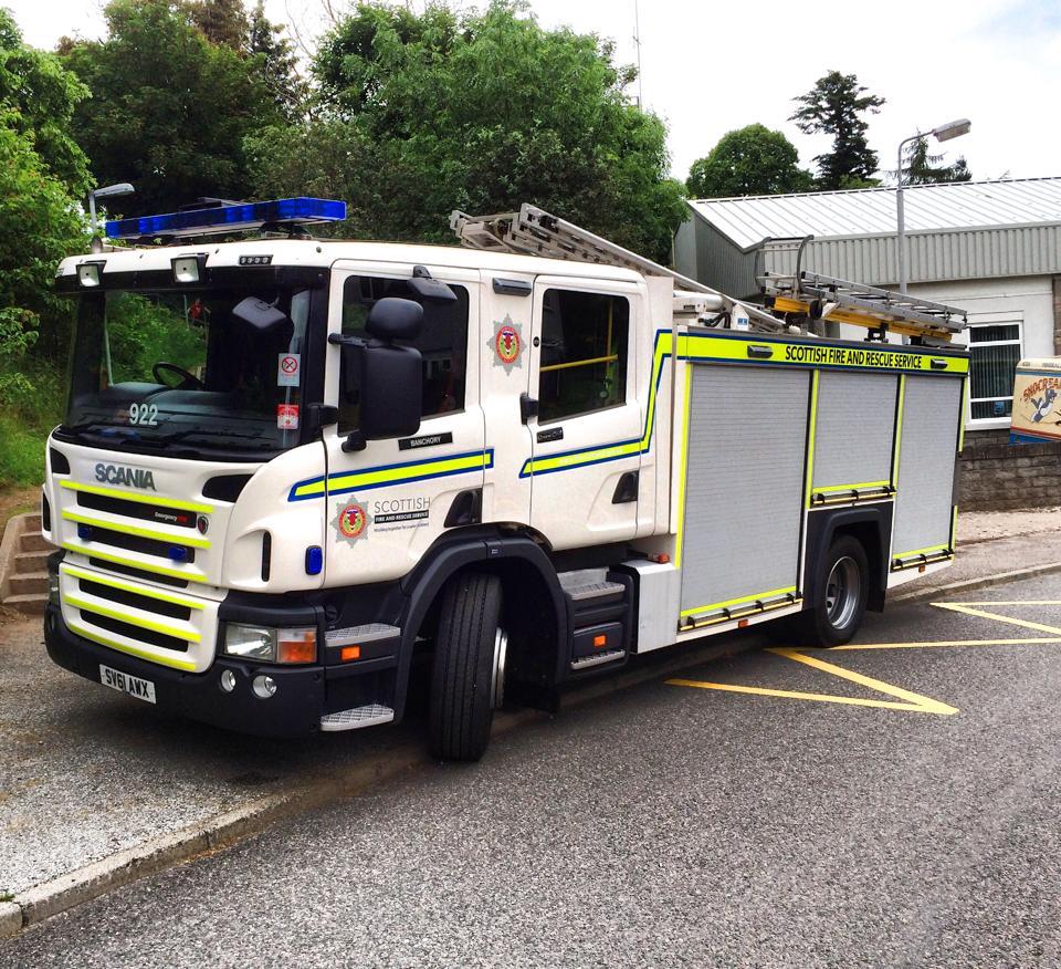 Fire at Gartly near Huntly (1)