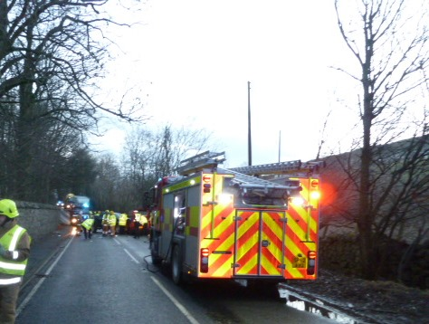 SFRS attend serious road traffic collision at Abernethy