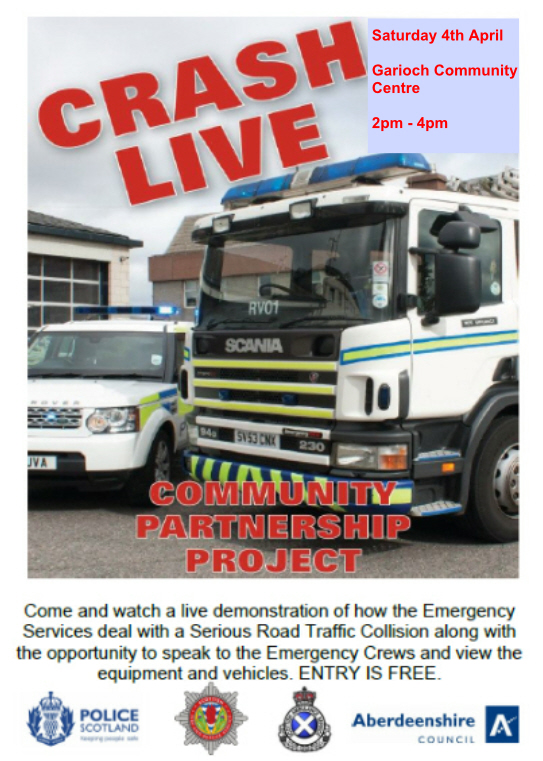 Crash live event in Aberdeenshire