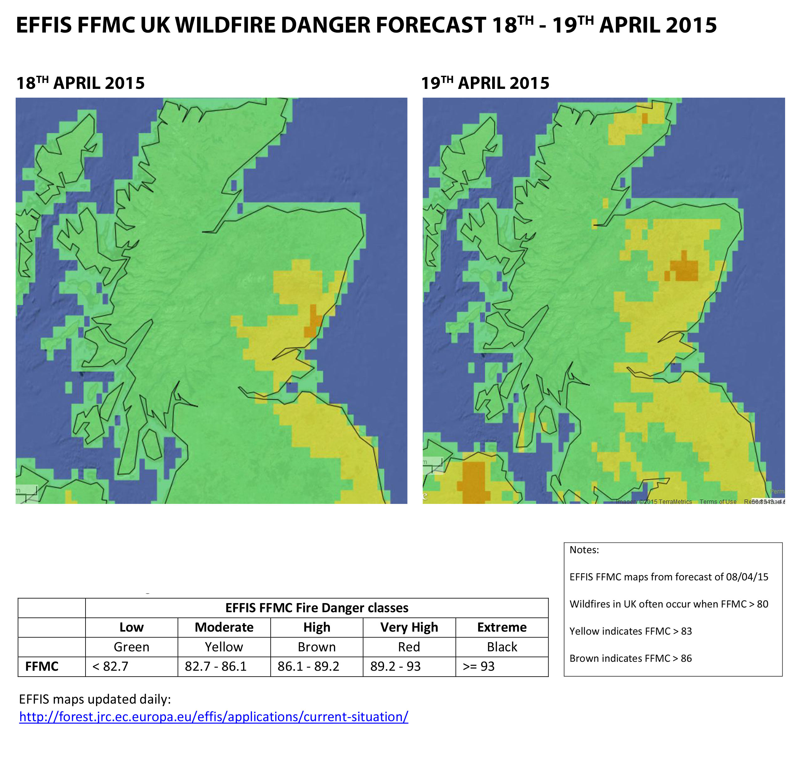 SFRS and Scottish Wildfire Forum extend wildfire warning, particularly in East
