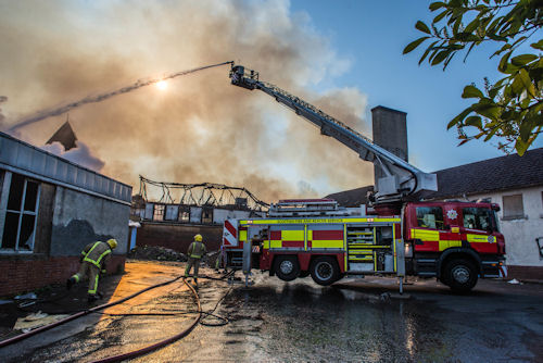 Crews currently tackling a fire at a disused school in Coatbridge