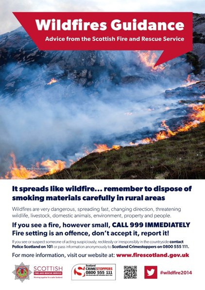 SFRS dealing with wildfire at Ashie Hill above Dores, near Inverness