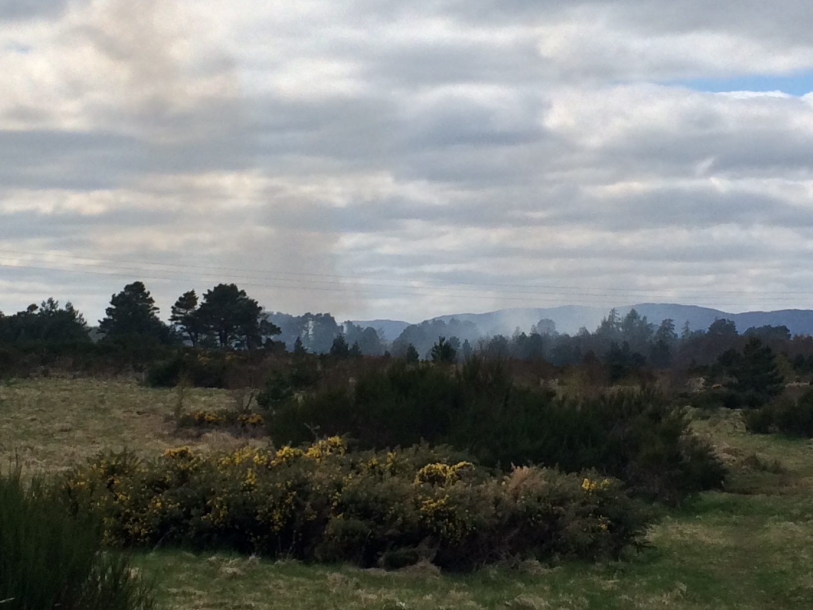Crews in Inverness currently tackling a wildfire behind Milton of Leys