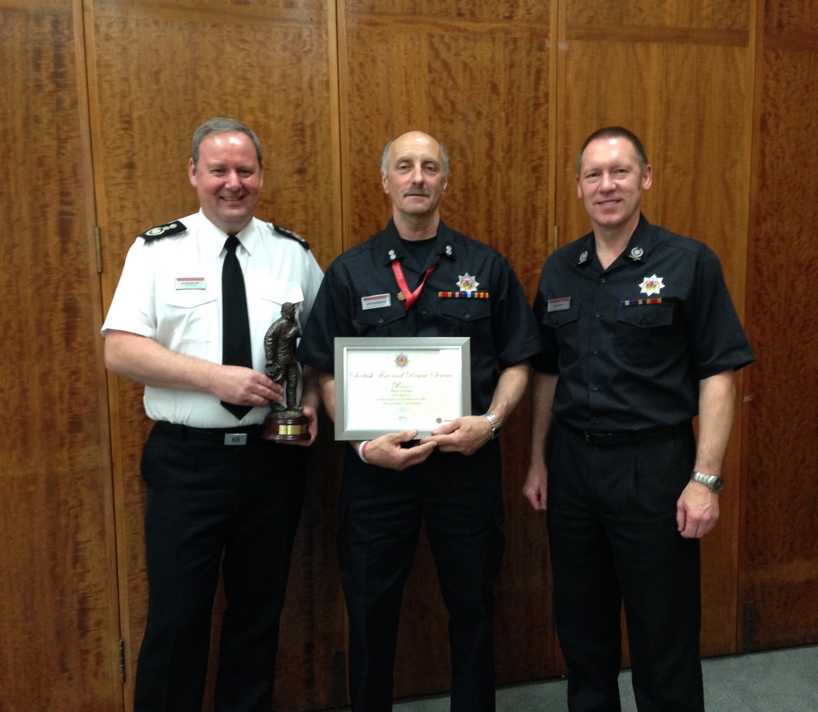 One of Scotland's longest serving retained firefighters to retire this month