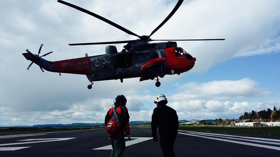 Rare opportunity for SFRS crew to train with Royal Navy