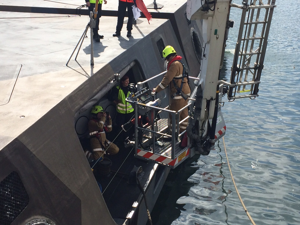 Aberdeen crews take part in harbour training exercise