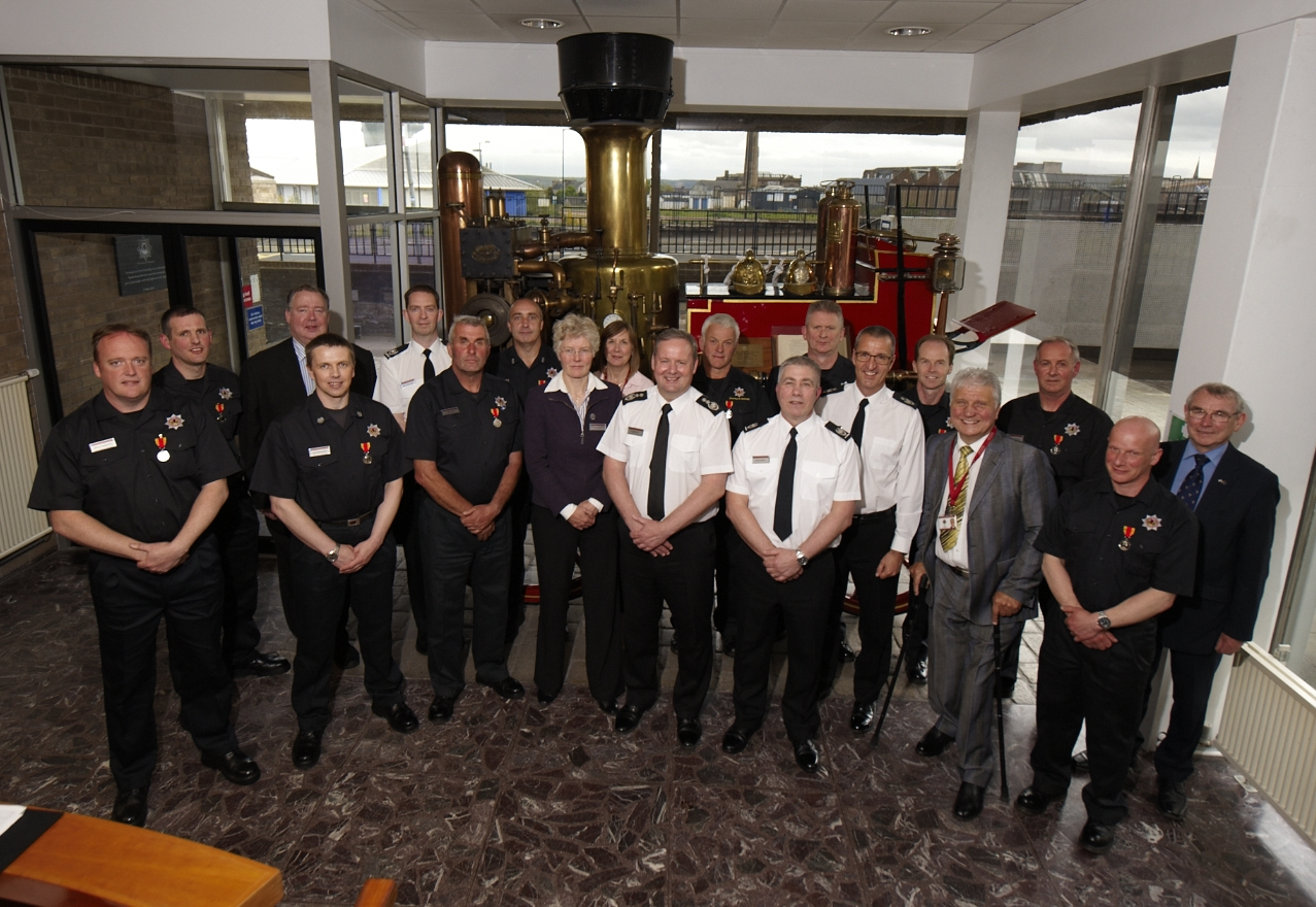 SFRS Chief Officer presented ten staff with Long Service and Good Conduct medals
