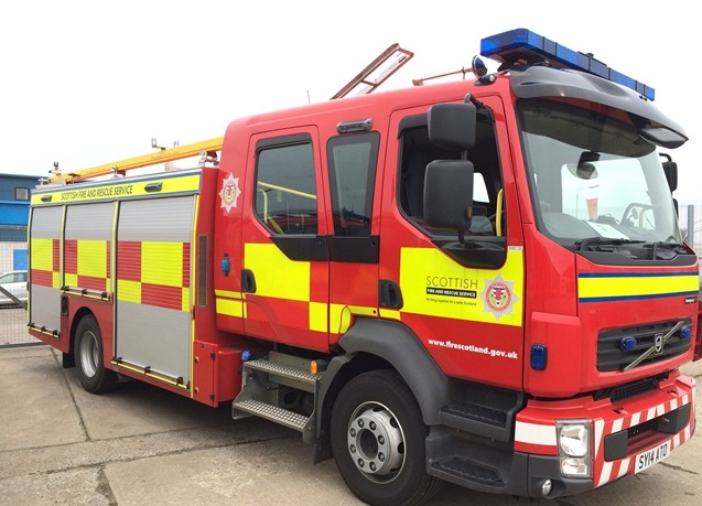 Crews extinguish fire in skip at Dingwall recycling plant