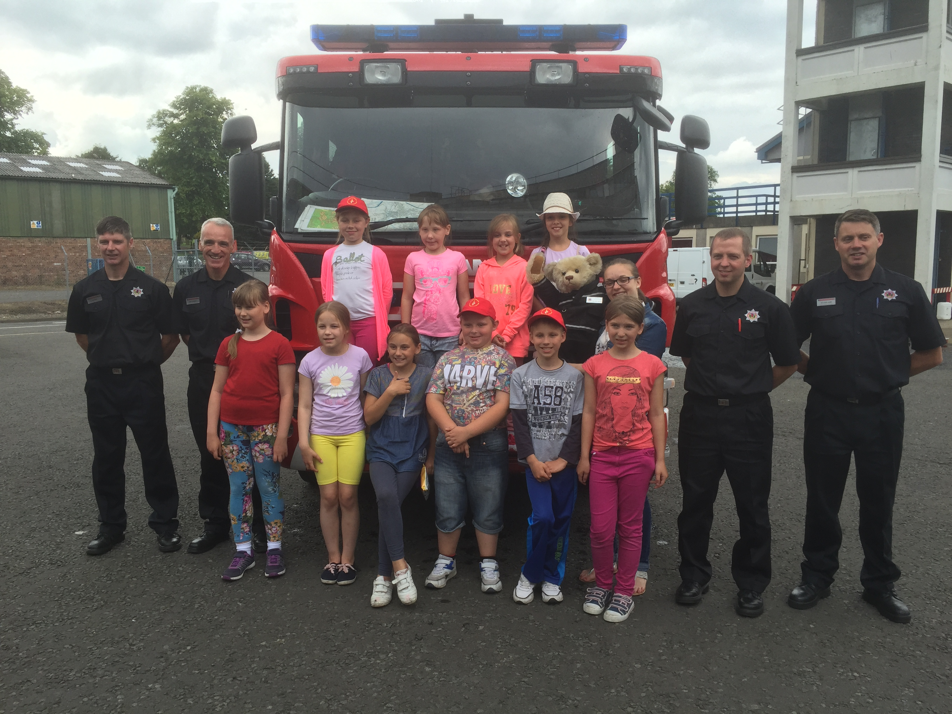 Perth fire crew give Chernobyl kids tour of fire station during UK trip