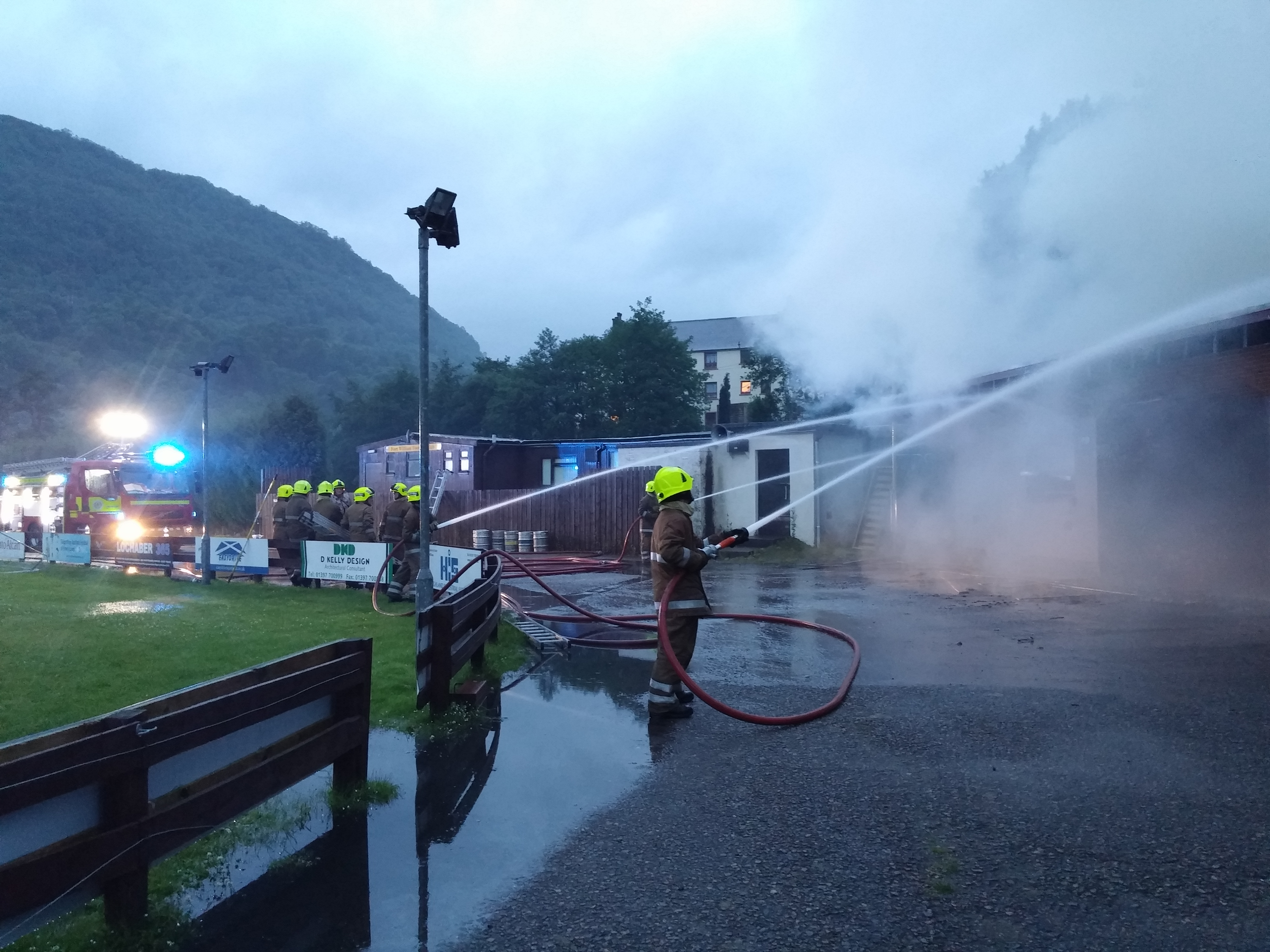 SFRS save building following Fort William football club fire