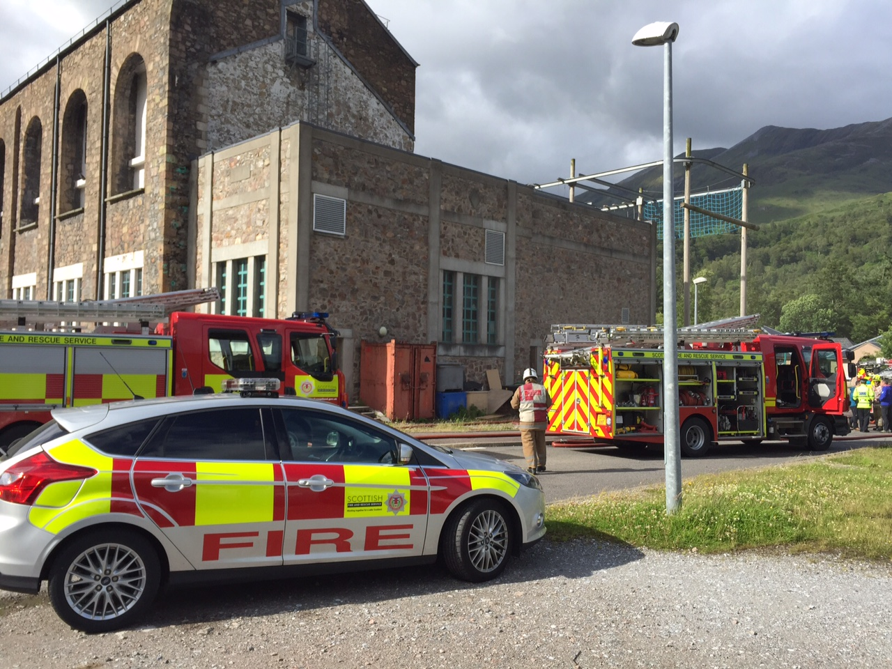 Fire crews successfully tackled a fire at The Ice Factor in Kinlochleven