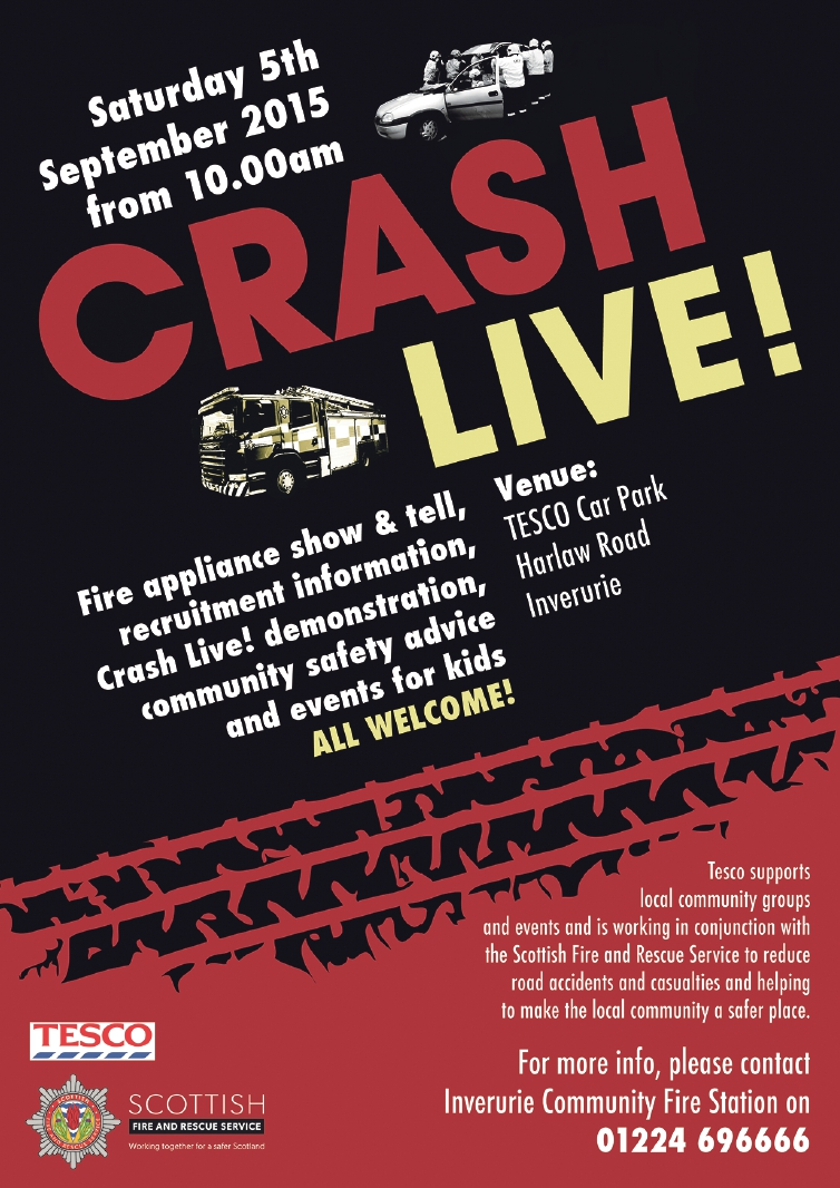 SFRS staging Crash Live! road safety event in Inverurie on Sept 5