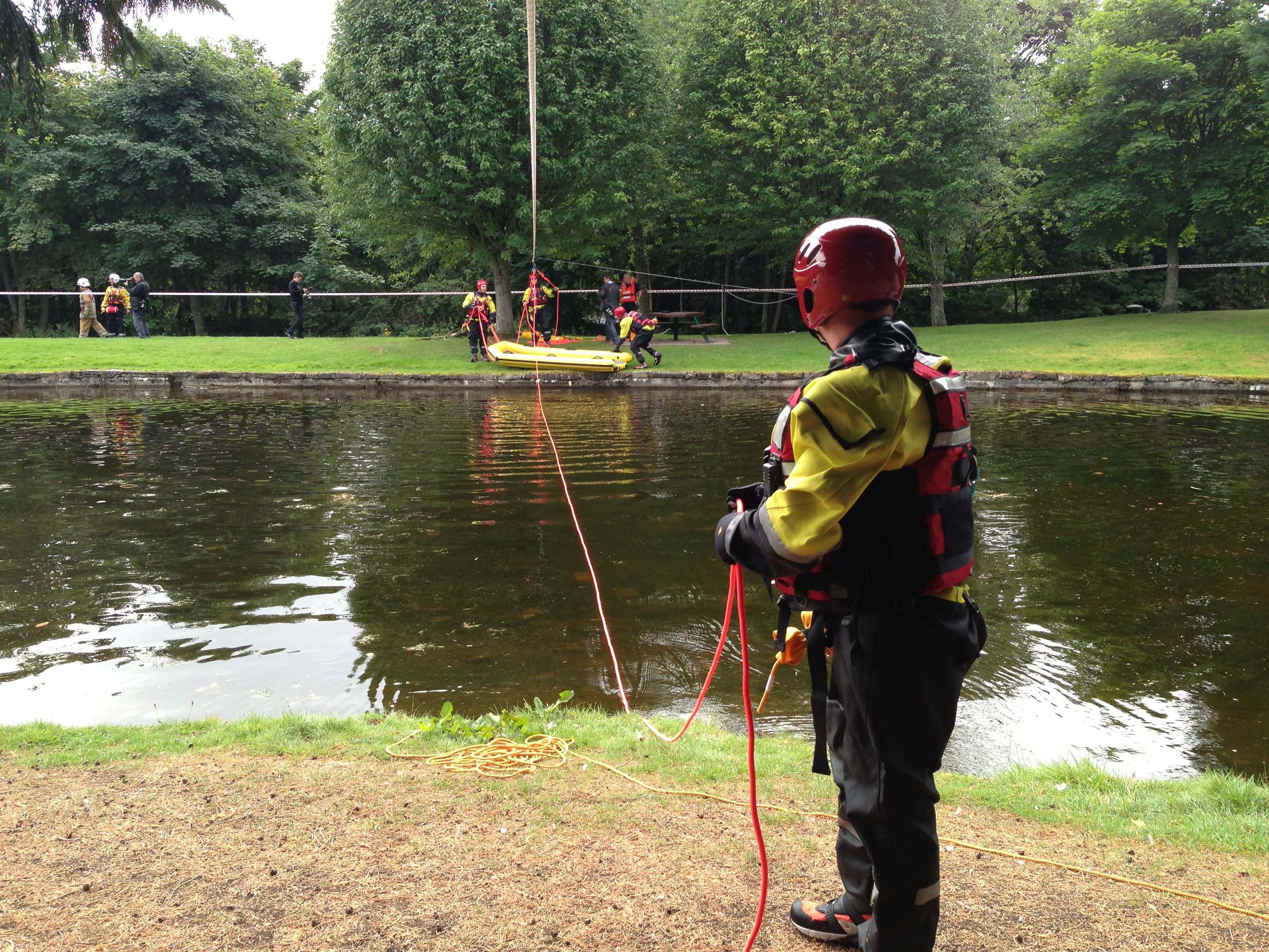 SFRS lead operation to rescue man after cliff fall at Blair Atholl