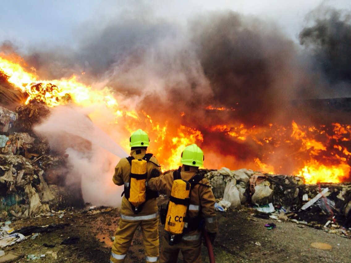 SFRS called to scene of a fire at a landfill site at Gremista, Shetland