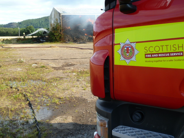 Crews extinguished barn fire at Bridge of Earn, Perthshire