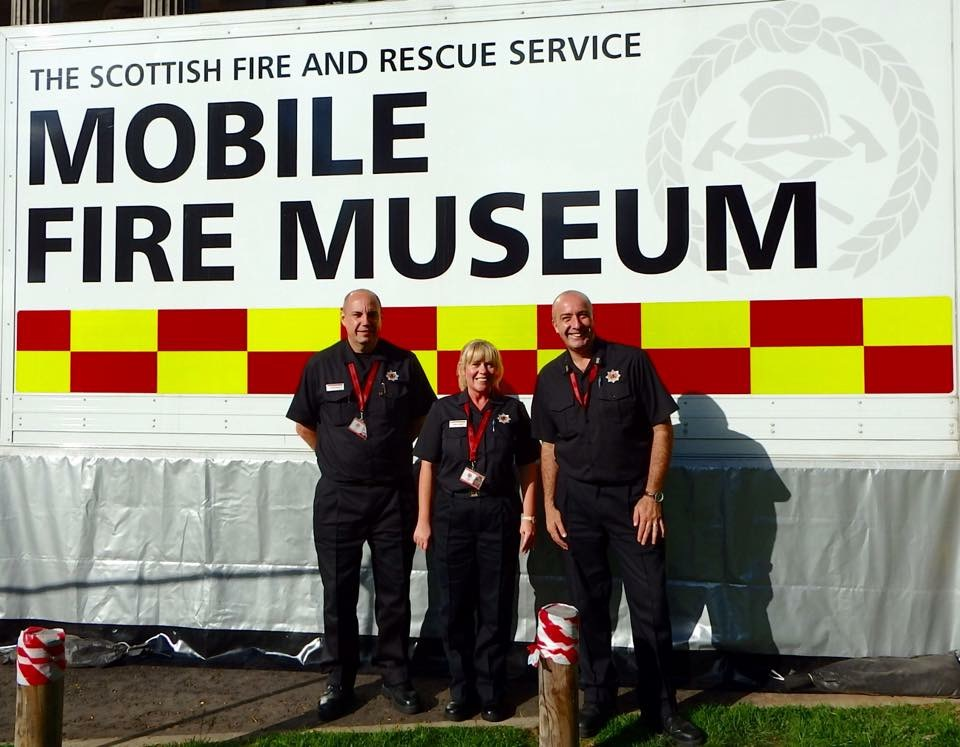 SFRS museum visited Dundee Flower and Food Festival