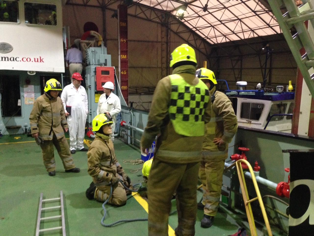Crews in Fort William took part in multi-pump boat exercise