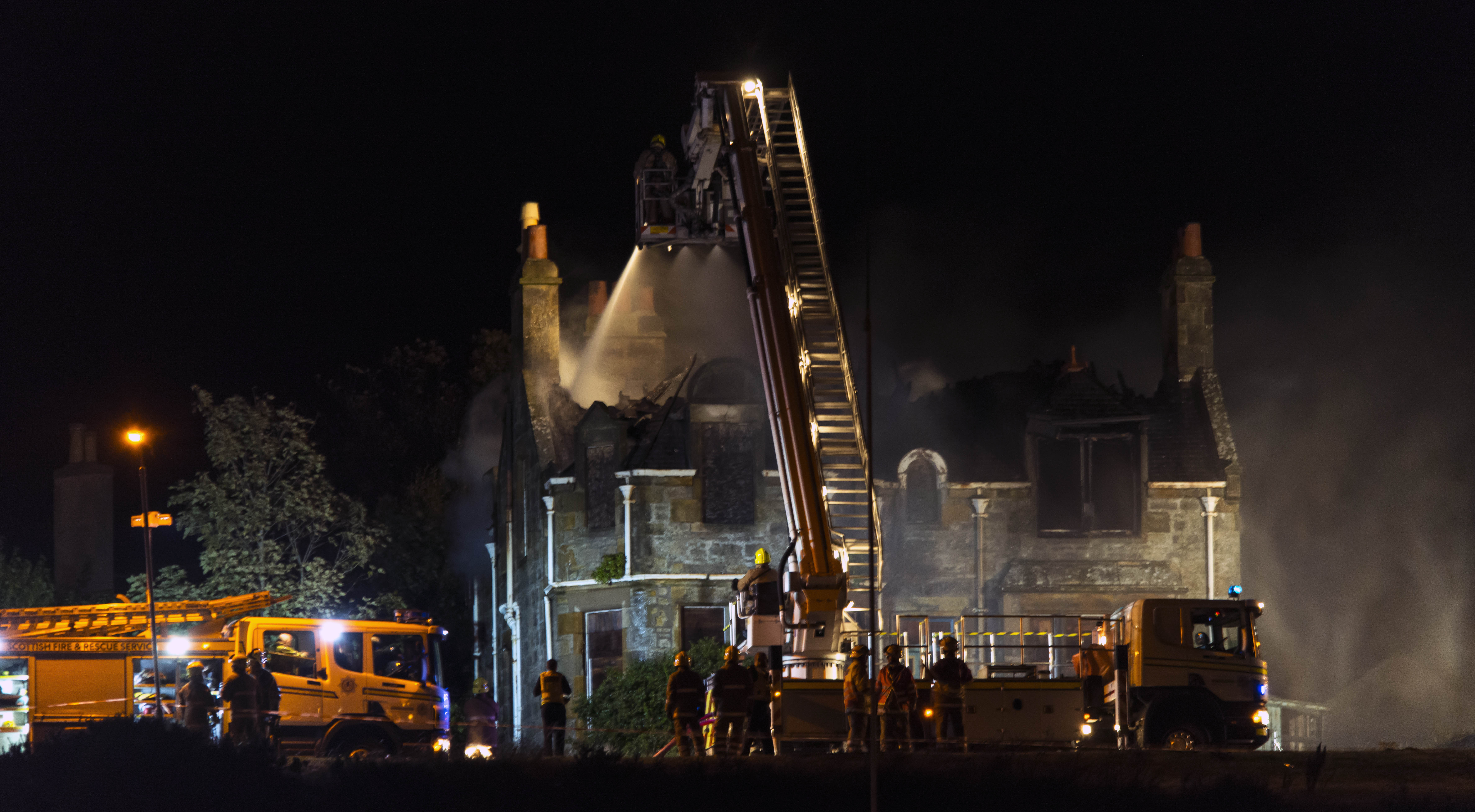 Fire at abandoned property in Lossiemouth