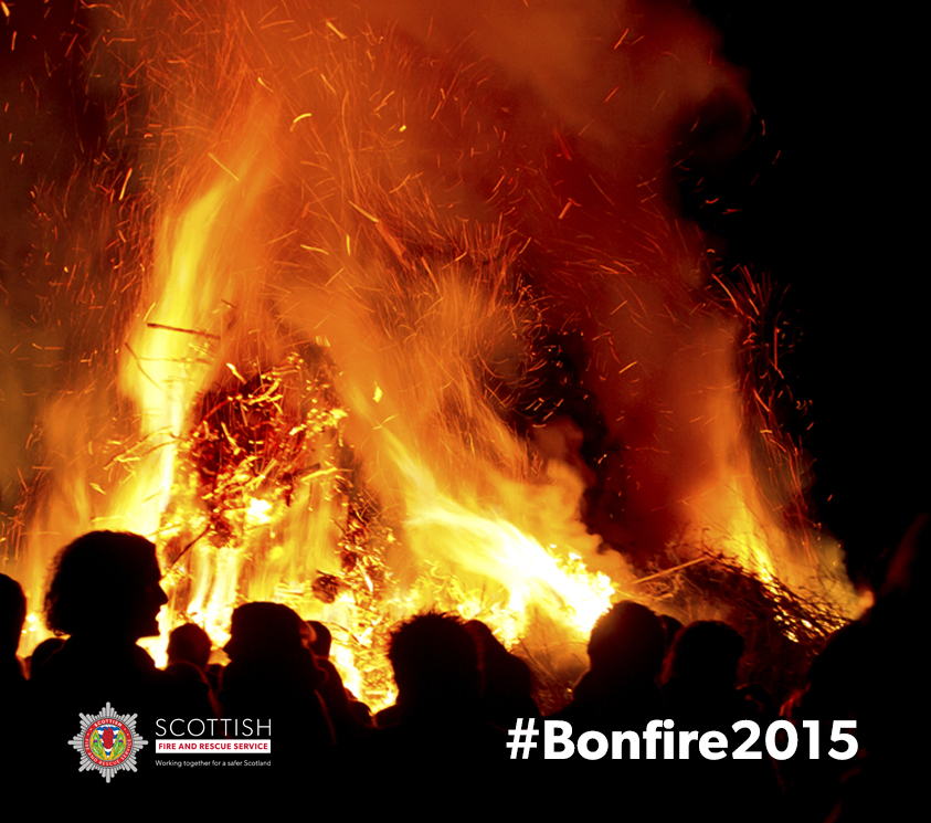 Firefighters in East of Scotland faced violence on bonfire night