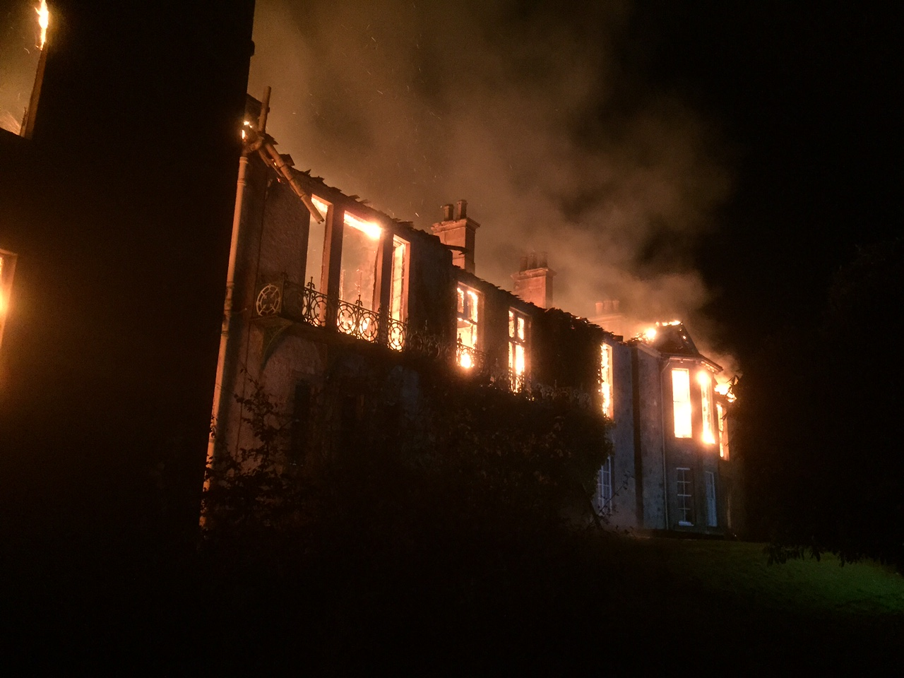 SFRS still at scene of house fire outside Elgin