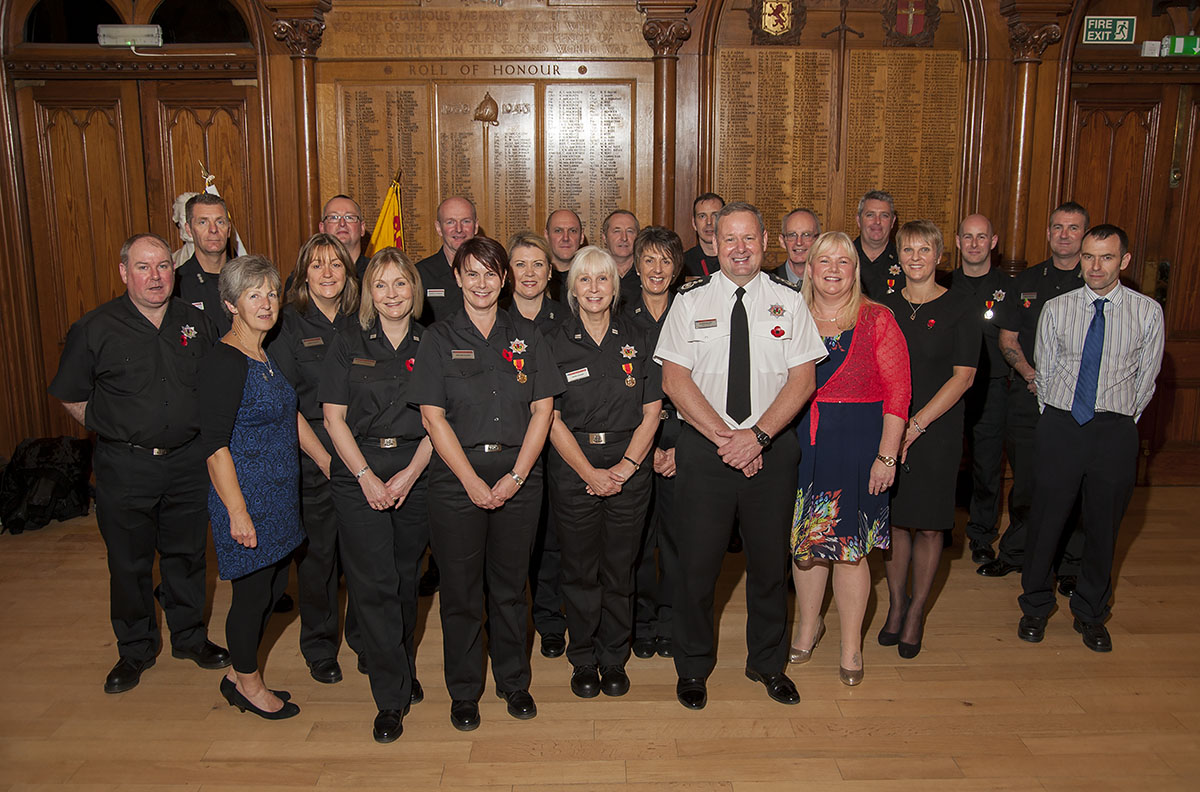 Chief recognised long service at Inverness ceremony