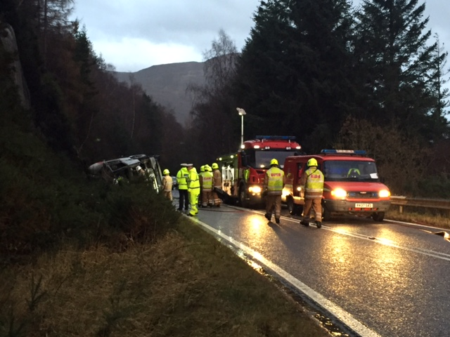 SFRS dealt with serious road traffic incident near Ullapool