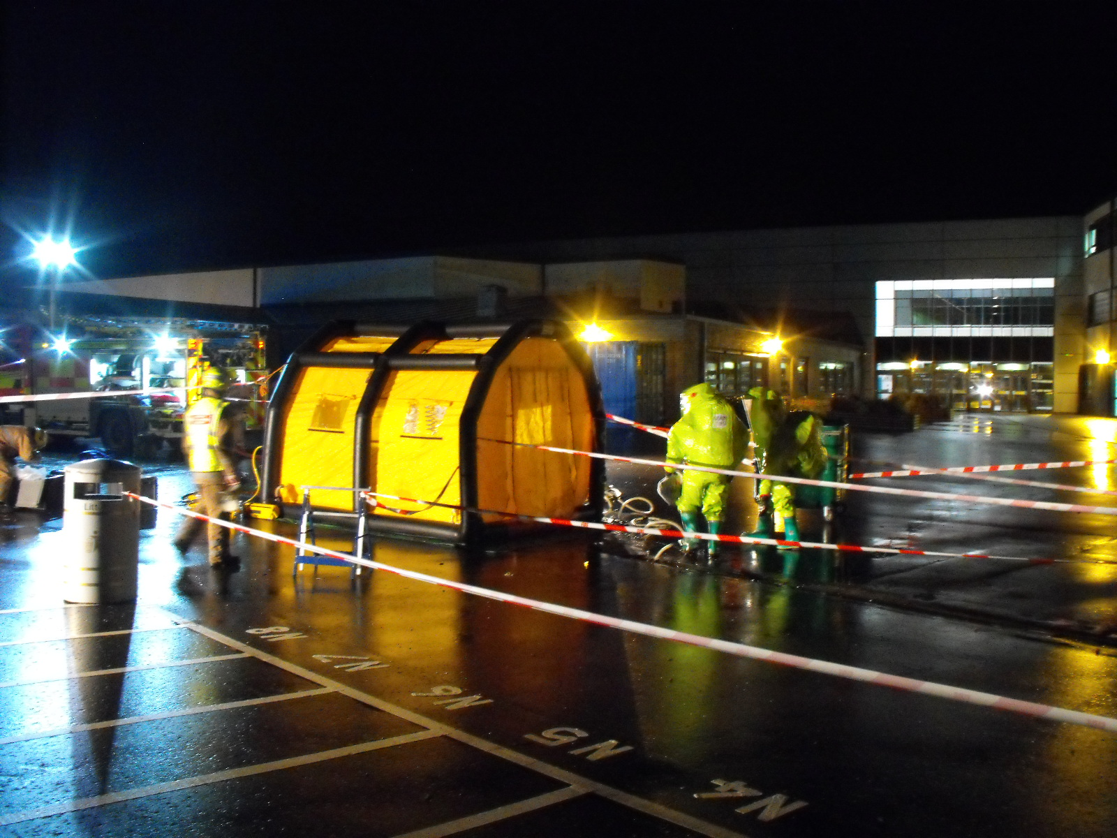 Fire crews attend a chemical spill in Perth
