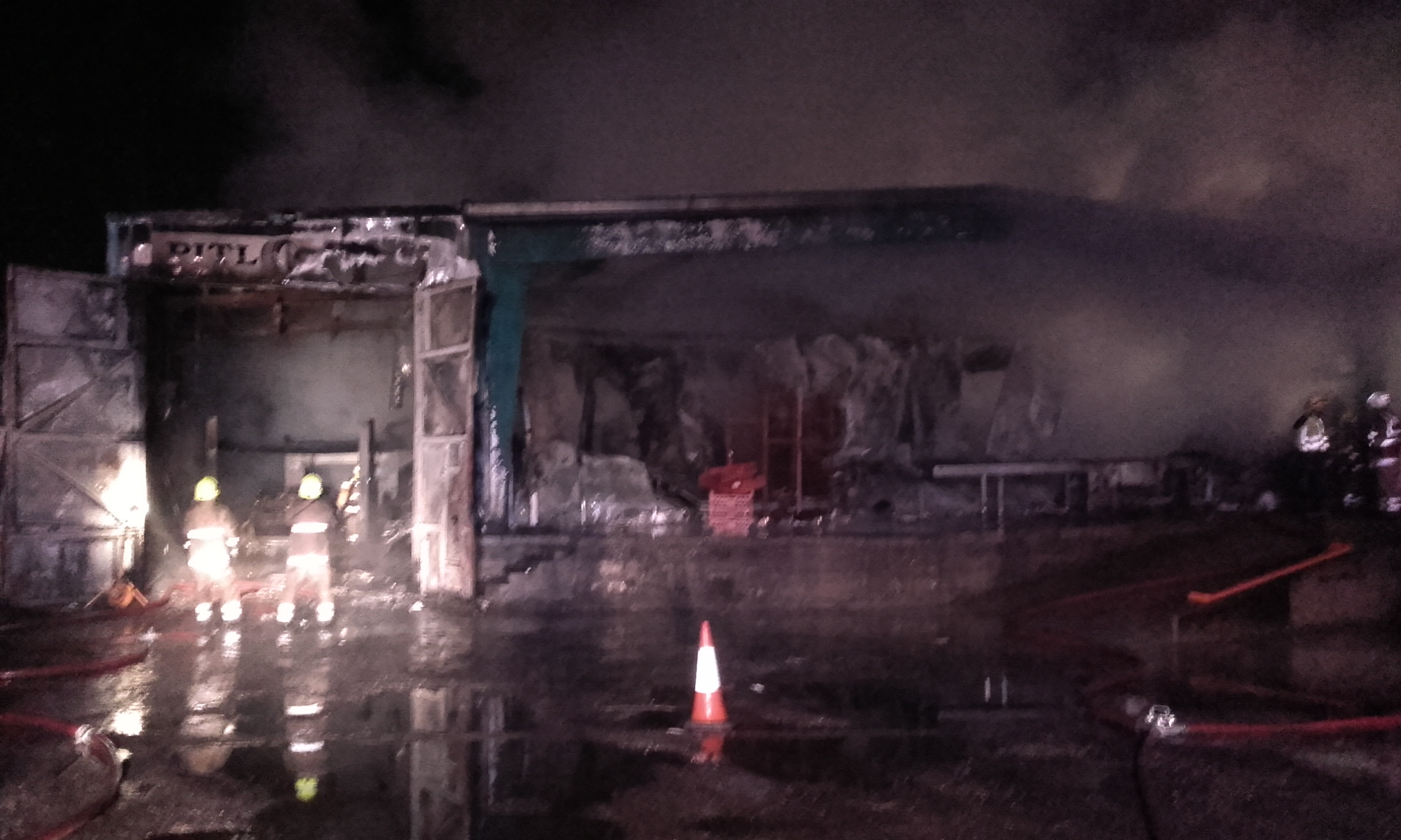 SFRS battled fire at industrial premises in Pitlochry last night