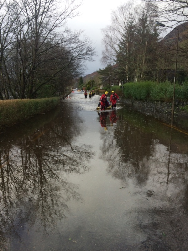 Crews rescue 22 people from flooding in Aberfoyle