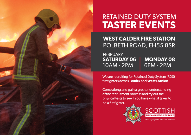 Retained firefighters vacancies at West Calder fire station