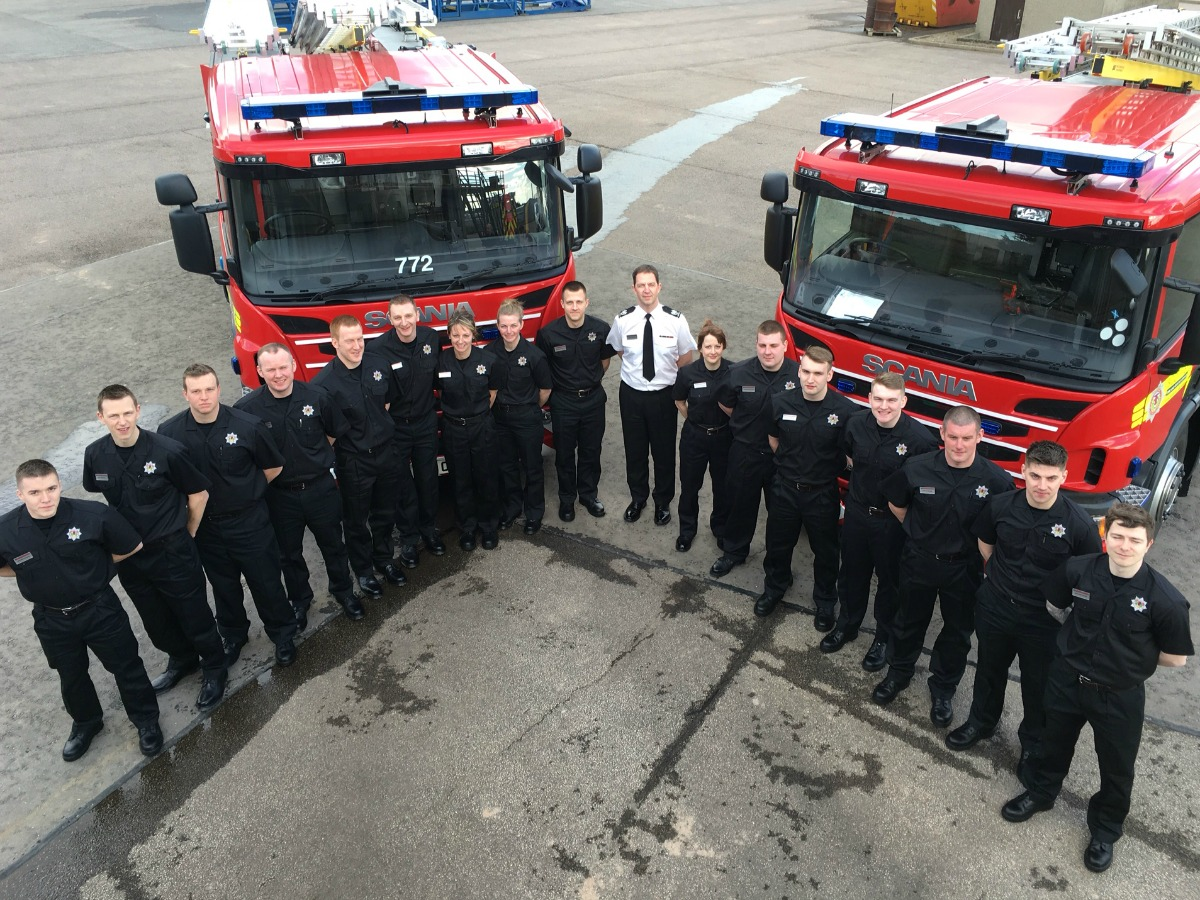 Trainee firefighters welcomed on first day (2)