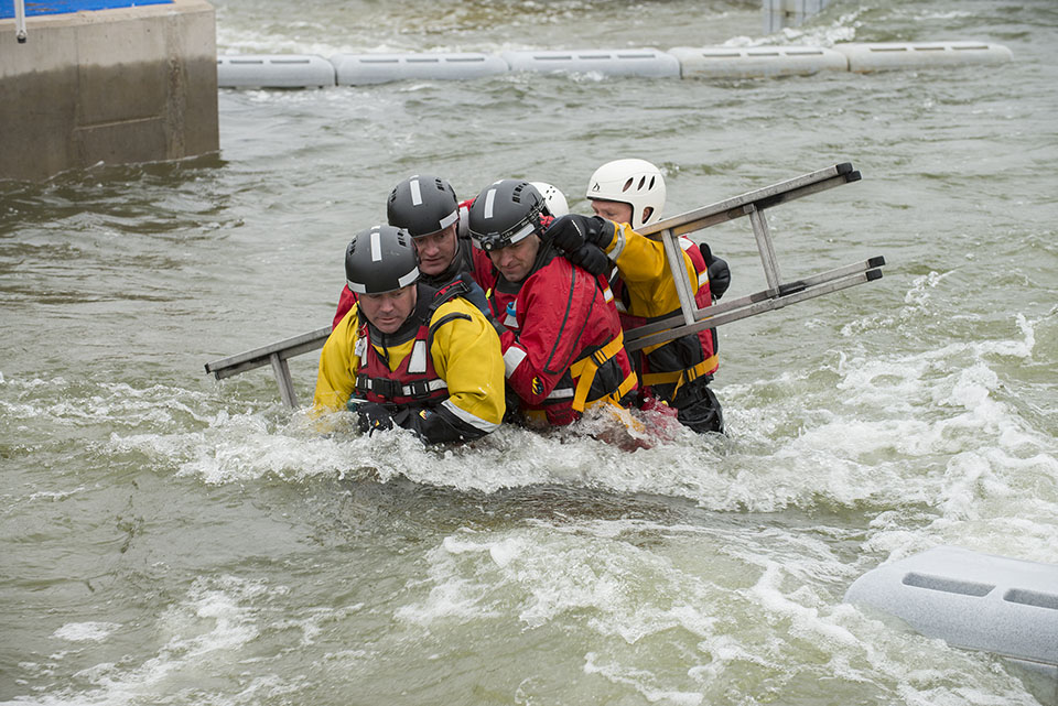 SFRS crews and counterparts from north-east England reherse their skills in rescue scenarios