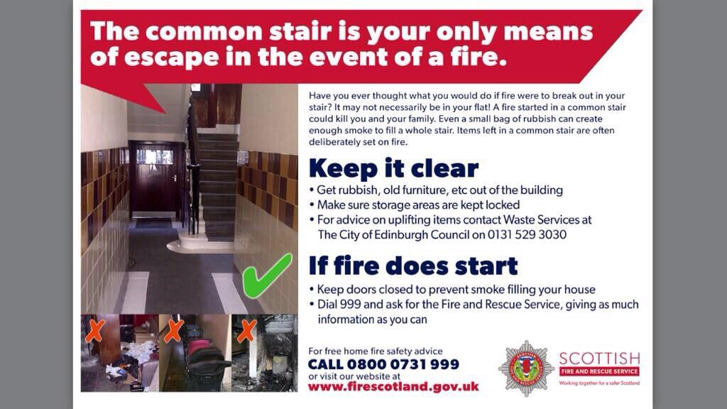 Edinburgh fire officer warns of the dangers of stairwell fires