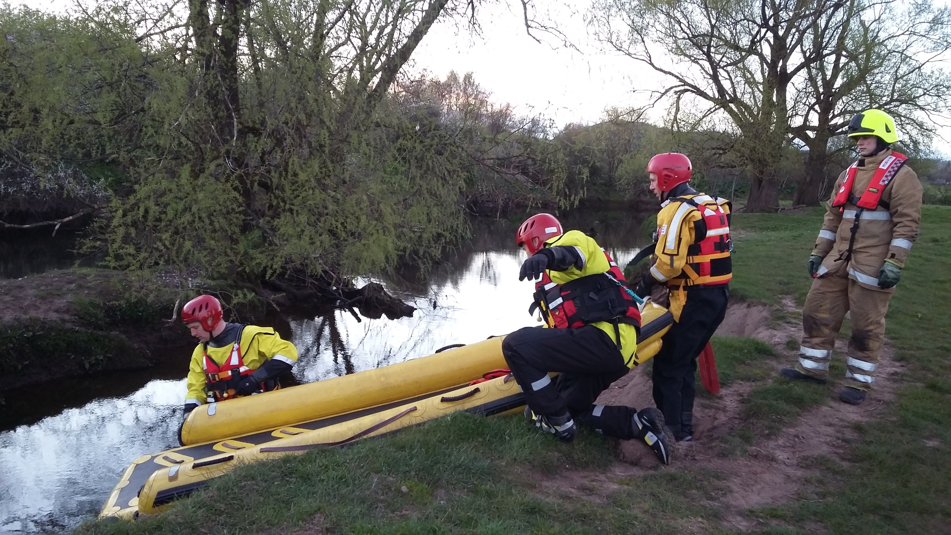 Crews rescue four females from water in Stirling