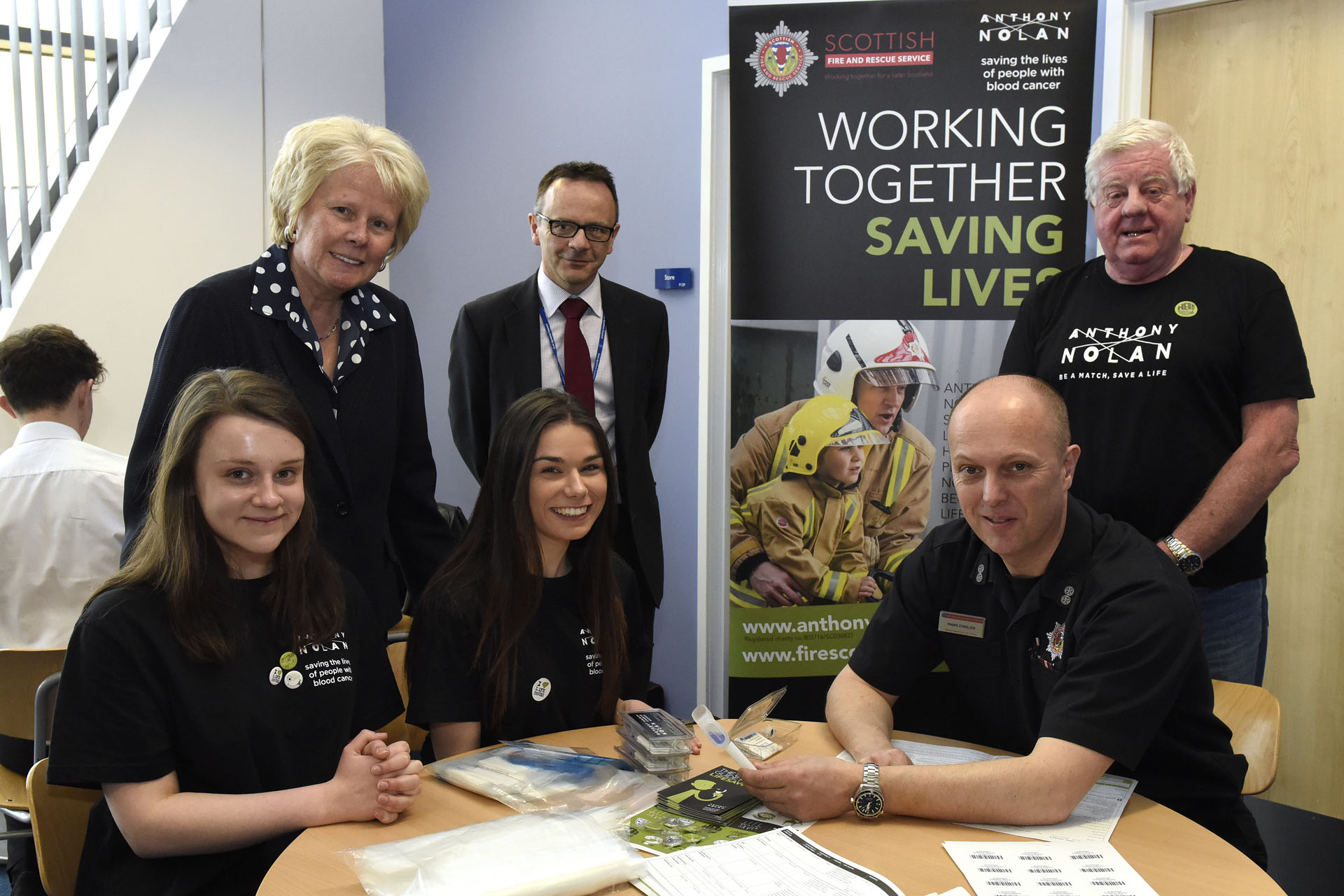 Firefighters recruit 95 potential lifesavers from Kilmarnock school