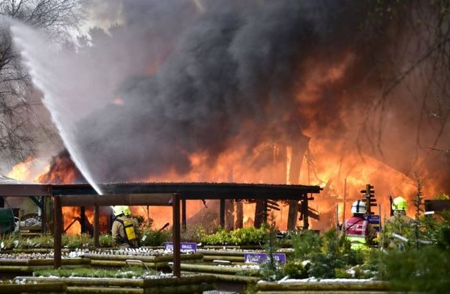 Firefighters battling blaze at Highland garden centre