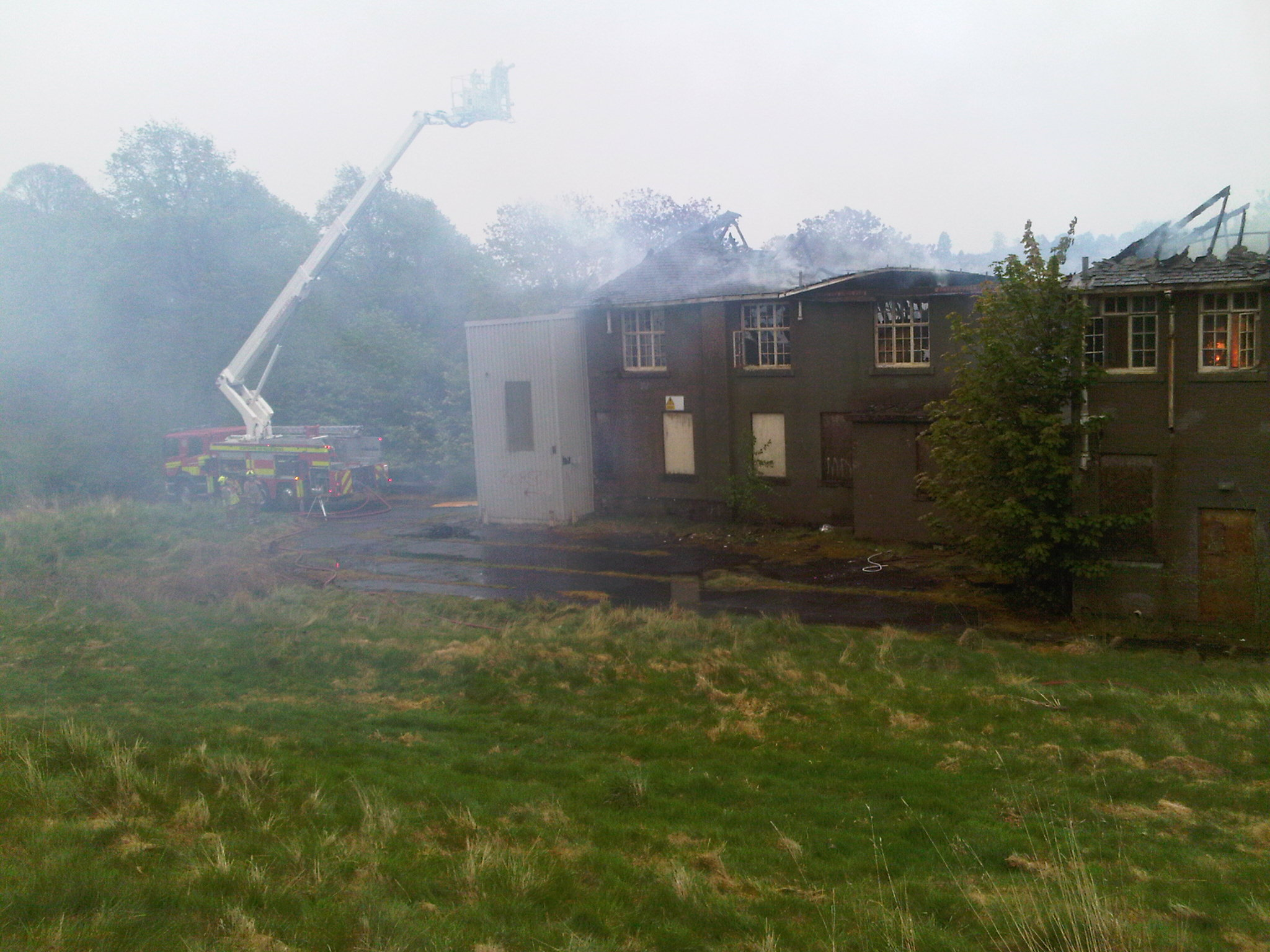Fire at derelict Strathmartine Hospital building in Dundee