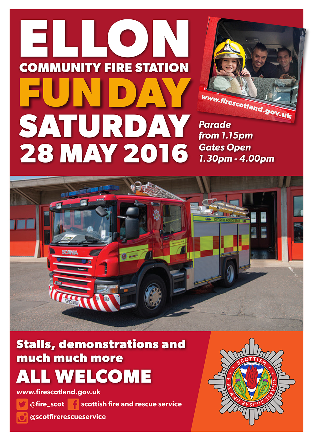 Open day at Ellon fire station