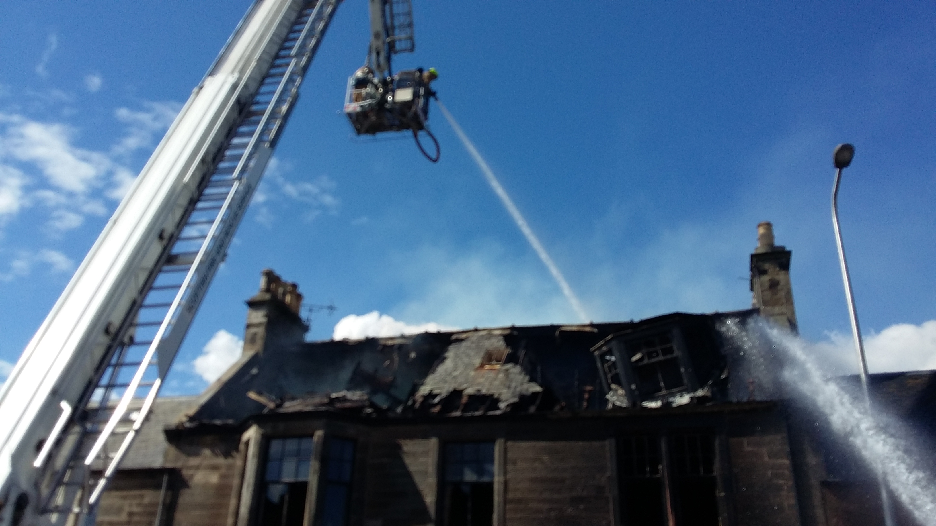 Firefighters tackle building fire in Elie, Fife