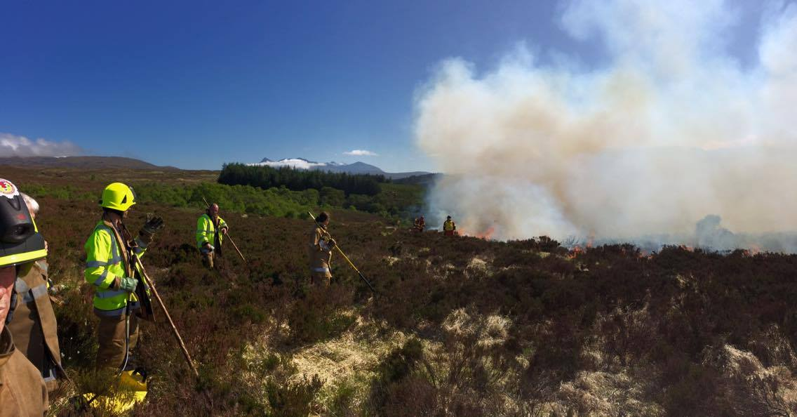 Firefighters extinguish wildfire on Skye